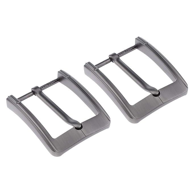 Reversible Single Prong Rectangular Belt Buckle Alloy PinBuckle Replacement