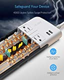 BESTEK 10-Outlet 4000 Joules Surge Protector Power