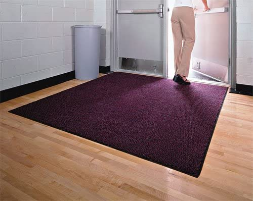 American Floor Mats Nylon Carpet Scraper Onyx 5 x 12 Gripper Back Rounded Corners Entryway Mat