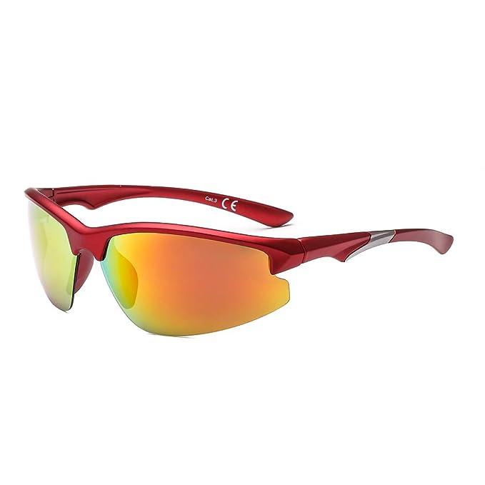 SUERTREE gafas de sol polarizadas deportivas a prueba de viento anteojos hombres Montaña Sombras JH6005: Amazon.es: Ropa y accesorios