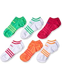 adidas Girls Superlite No Show Socks (Pack of 6)