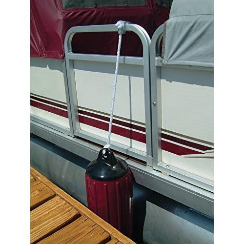 8 PACK Pontoon Boat Rail Fender Hanger Adjuster Square Tube Rails Quick Clip