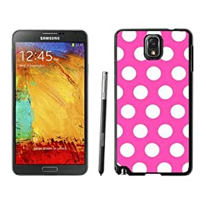 linJUN FENGDiy Samsung Galaxy Note 3 Case Awesome Polka Dot Rose Red and White Soft TPU Black Phone Cover Speck