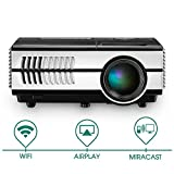 Pico Projector  DLP Mini Projectors 1080P WiFi Bluetooth Android Beamer Digital Proyector Church Business Office Education School Home Theater Cinema Video Games Presentation Outdoor Party Portable