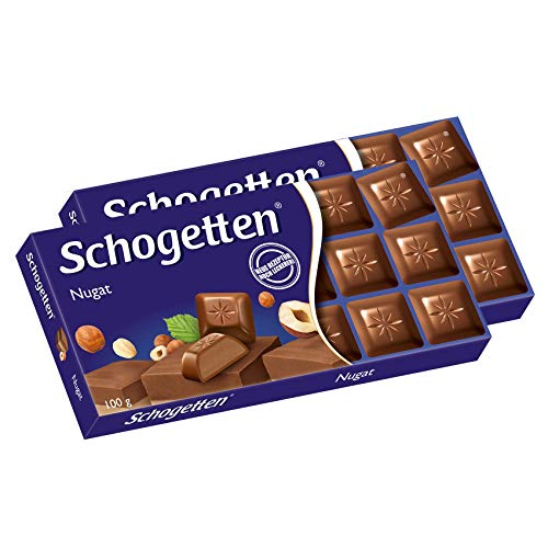 Schogetten Praliné Noisettes Chocolate Bar Candy Original German Chocolate 100g/3.52oz (Pack of 2)