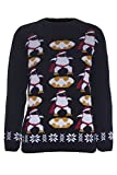 Product review for Oops Outlet Boy's Girl's Batman Penguin Christmas Knitted Jumper Age 7/8 years Black
