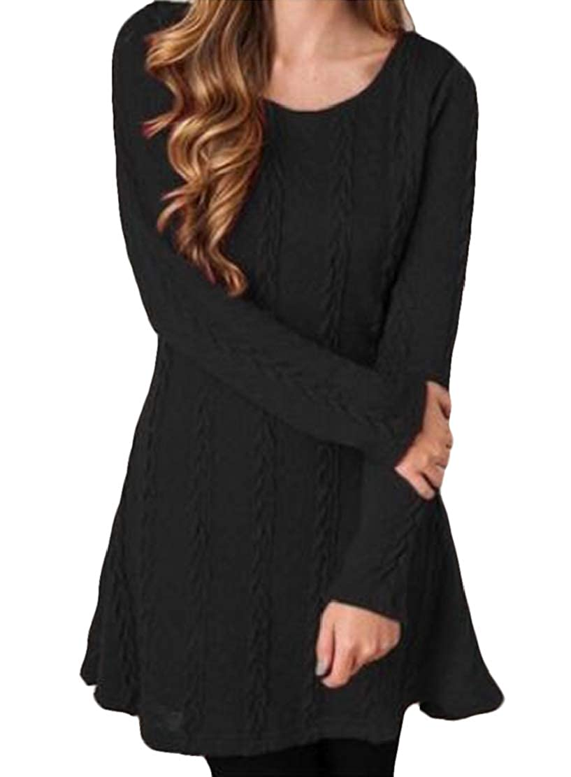 Hmarkt Womens Long Sleeve Pullover V Neck Casual Kint T-Shirt Tee