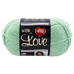 Red Heart With Love Yarn 1932 Minty 6 oz - 170 grams - 315 yards
