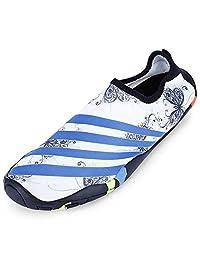KCatsy Zapatos de Agua para la Playa, para Hombre, de Secado rápido, Antideslizantes, Transpirables, con tacón Plano
