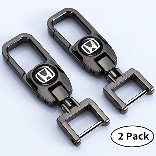 Goshion 2 Pack Car Logo Keychain Key Chain Keyring Family Present for Man and Woman Suit for Honda