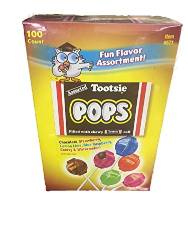 Tootsie Pops Fun Flavor Assortment 100 - Flavor Roll Tootsie