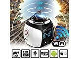 StillCool Wireless 360 Grad Panorama Mini Kamera 3D VR Action Sport Kamera Wifi 16MP 4K HD 30fps Wasserdicht 230 ° groß Objektiv Mini DV Player