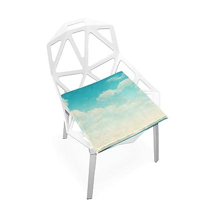 Amazon.com: Xinxin cojín de asiento cielo Azul cojines ...