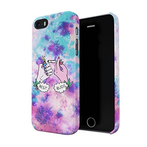 Best Buds Lighting Blunt Trippy Acid Space Hard Plastic Phone Case For iPhone 5 & iPhone 5s & iPhone SE