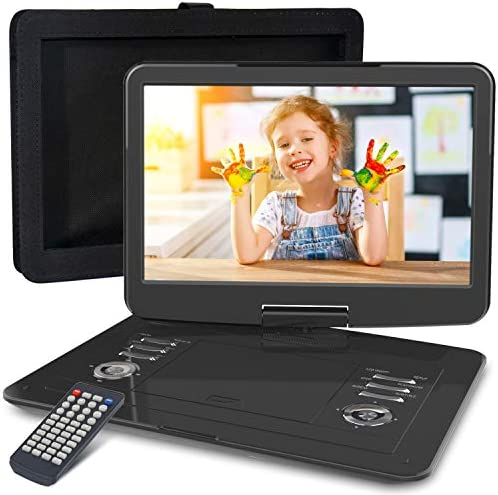 "WONNIE 16.9"" Portable DVD/CD Player with"