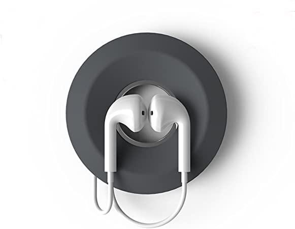 NEW Bluelounge Cableyoyo Earbud//Cable Management Soft Silicone Rubber Dark Grey