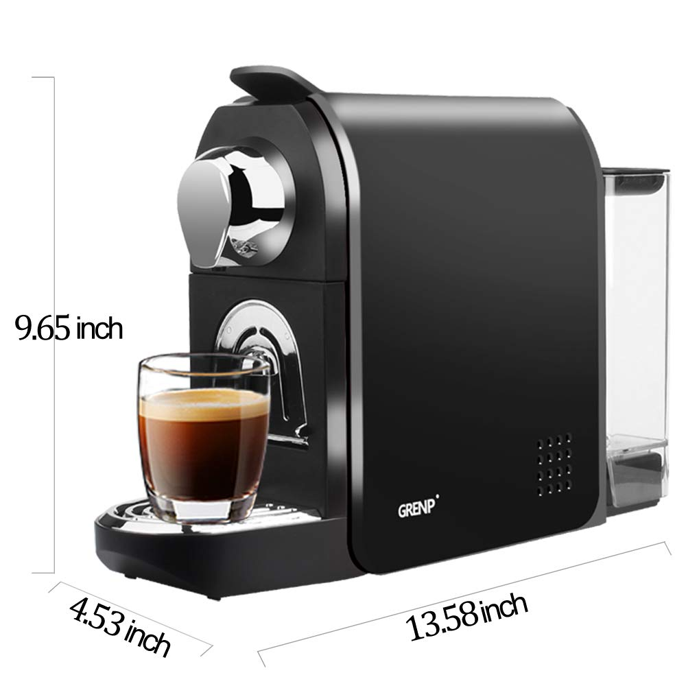 Espresso Machine for Coffee Capsules Compatible with Nespresso OriginalLine Machine, Espresso Maker forBestpresso Coffee Capsules, Gourmesso Bundle, Battistino Coffee, Peet's Espresso By Grenp (Black)