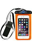 Universal Waterproof Case with Armband,Nancy shop Premuim Quality Water Proof, Dustproof, Snowproof Pouch Bag,Fits iPhone 7 7 Plus,iPhone 6s 6 Plus, Galaxy S6 Up to 6.0 Inch (Orange)