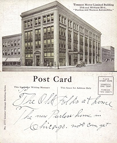 CHICAGO IL TENNANT MOTOR LTD BUILDING 25th & MICHIGAN BOULEVARD ANTIQUE (Boulevard Postcard)