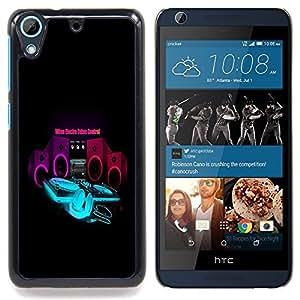 For HTC Desire 626 & 626s - cool music electro control bass speaker /Modelo de la piel protectora de la cubierta del caso/ - Super Marley Shop -