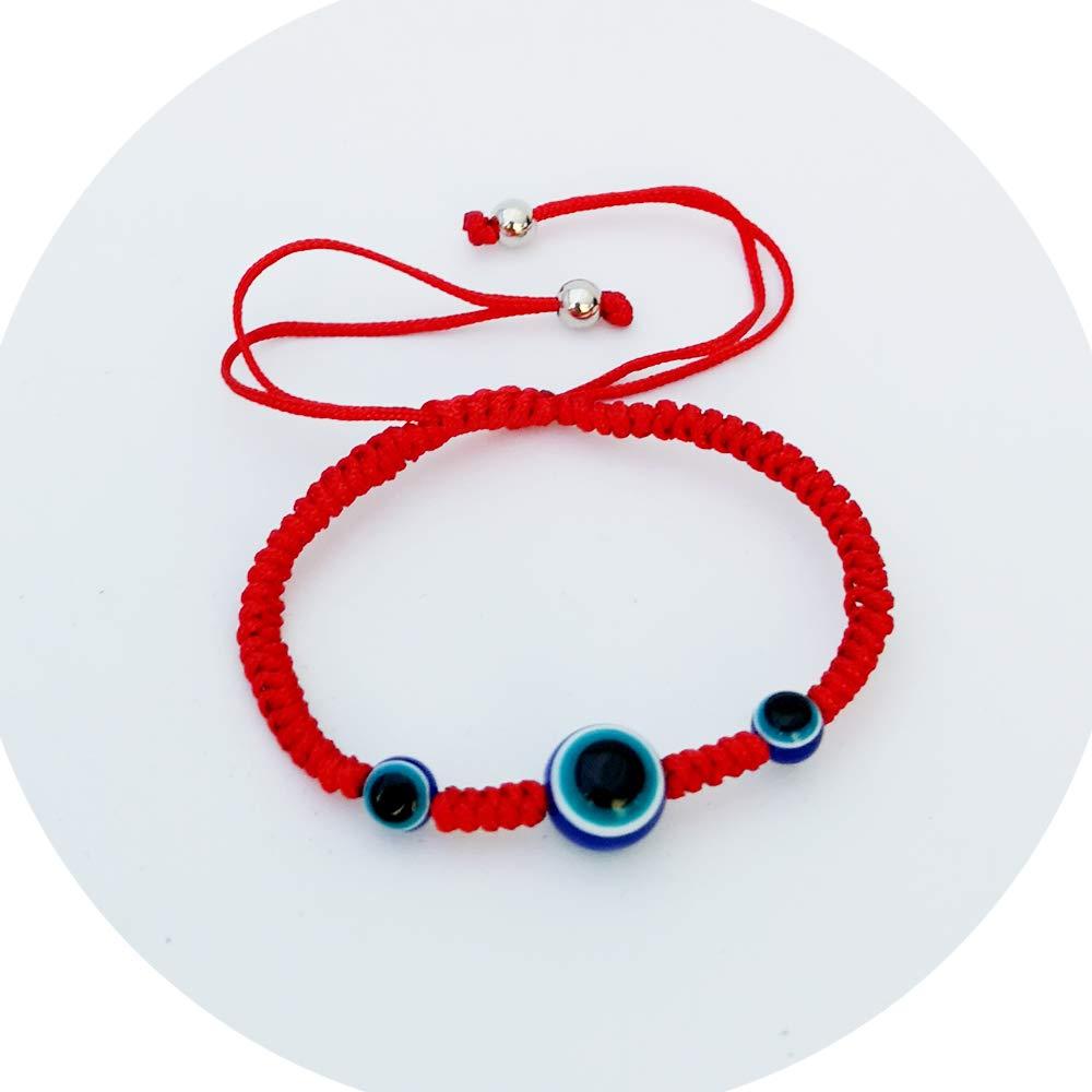 ProLuckis Evil Eye Adjustable Bracelet Red String Bracelet for Women Men Girls Boys