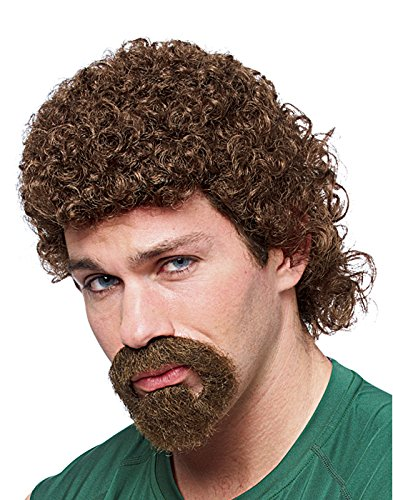 Costume Culture Men's Kenny Goatee and Wig, Brown, One Size ()
