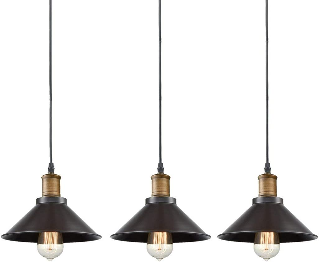 Industrial Bronze Pendant Light 3 Pack