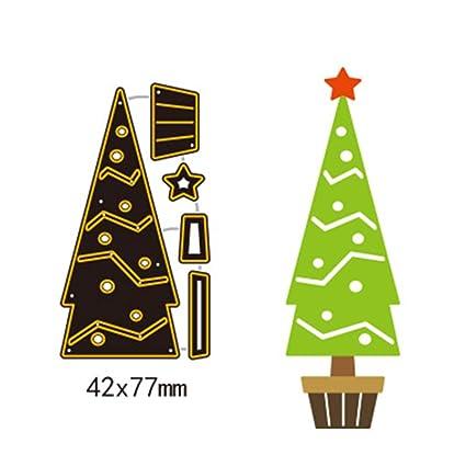 Amazon Com Cutting Dies 42x77mm Christmas Tree Cutting Dies