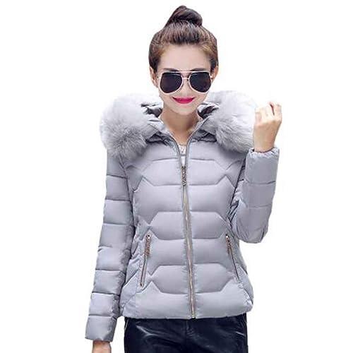 Ranboo Mujeres con capucha corta chaquetas de invierno Abrigos cálido