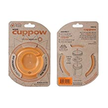 Cuppow Wide Mouth Mason Canning Jar Drinking Lid Orange by Cuppow
