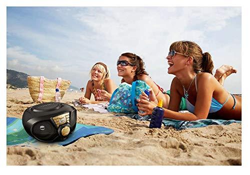 Philips PX3115G CD-Player Mini Stereoanlage Kompaktanlage Boombox CD MP3 AUX USB Radio schwarz-Gold 5W Netz und Batteriebetrieb
