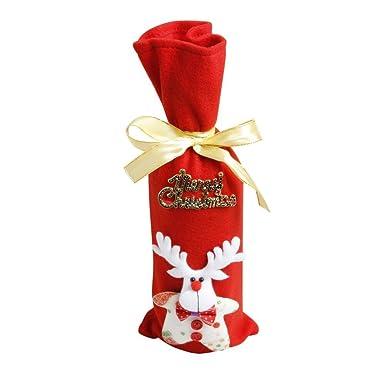 Cubierta de la botella de vino de Navidad,Navidad Botella ...