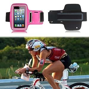 Alto Valor Slim Fit Hot Pink Running cubierta de la caja del brazal de Apple Iphone 4s / 4