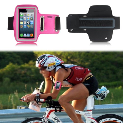 G4GADGET® Slim Fit Hot Pink Running Armband Case Cover for Apple Iphone 4s/4