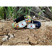 Paracord Medic Alert Bracelet - Customized Medical ID Adults and Kids