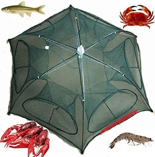 it Net Trap Cast Dip Cage Crab Fish Minnow Crawdad Shrimp Foldable NEW ()