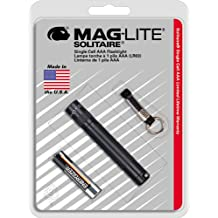 Maglite Solitaire Incandescent 1-Cell AAA Flashlight Black