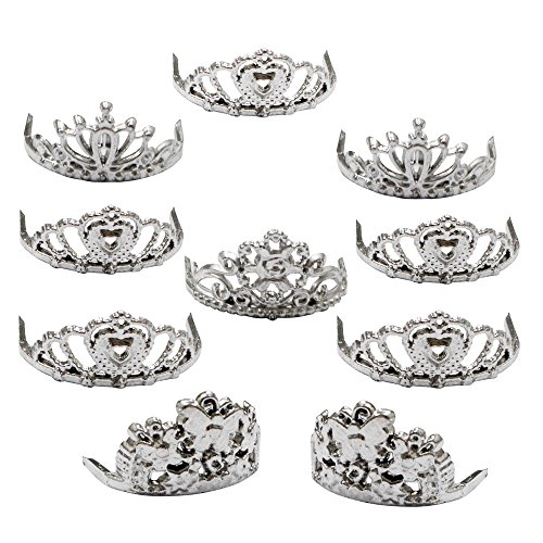 Topseller Sliver Crown for Barbie Doll Pack of 10