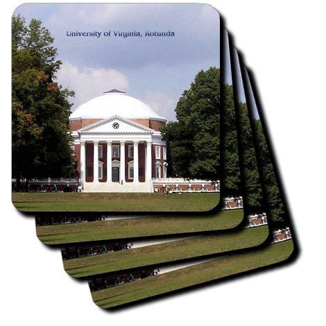 3dRose cst_55349_3 University of Virginia, Rotunda Ceramic Tile Coasters, Set of 4