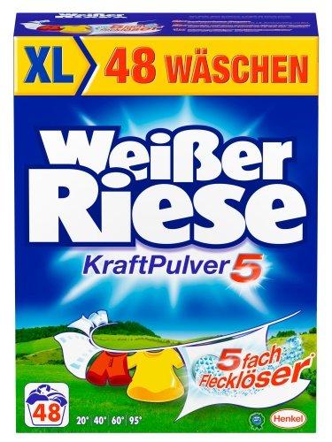 Weißer Riese Kraft Pulver, Waschmittel, 48WL