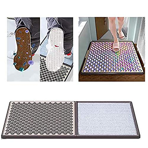 Disinfecting Floor mats, Automatic Cleaning Household Foot Pads, Clean Soles Floor Mat, Non Slip Washable Quickly Absorb Moisture and Resist Dirt Rugs
