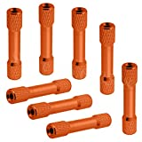 8-Pack HobbyPark M3x30mm Aluminum Standoffs Spacer RC FPV Drone Quadcopter Replacement DIY Parts (Orange)