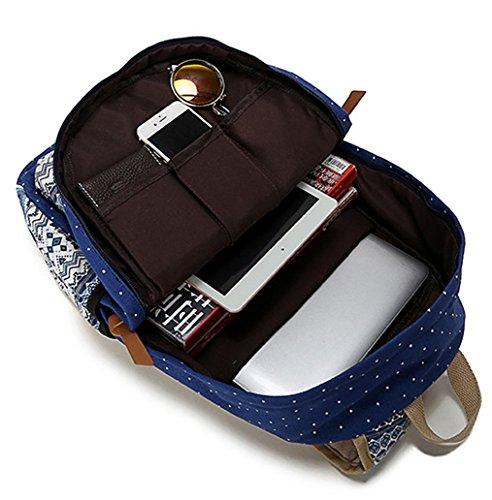 Greeniris mujer lona mochila viajar vendimia colegio mochila para niña negro
