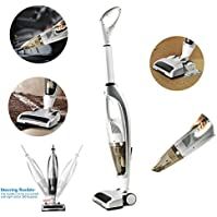 FORTUNE DRAGON High Power Lightweight Upright Vacuum 3-in-1 Hand and Stick Vacuum Cleaner (Silver)