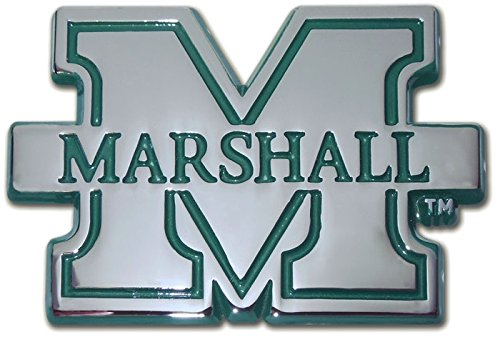 Marshall University METAL Auto Emblem (with green trim) (Marshall University Auto compare prices)