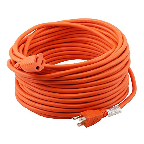 Epicord 16/3 Extension Cord Outdoor Extension Cord (100 ft) Orange heavy duty extension cord