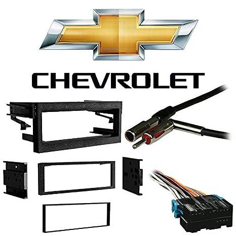 amazon com: fits chevy tahoe 1995-2002 single din stereo harness radio  install dash kit: car electronics