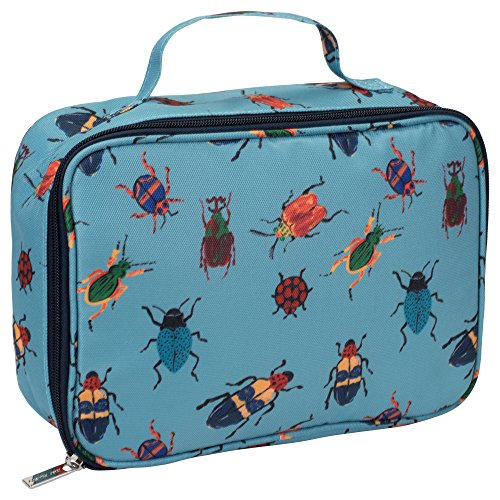 Bugs on Sky Blue Water Resistant Soft Cooler Insulated Lunch Bag - Lunch Bug