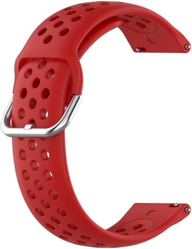 Husgrtyer YHM 23mm for Fitbit Blaze/Fitbit Versa 2 Universal Sport de Remplacement en Silicone Dragonne (Blanc) (Color : Black) Red