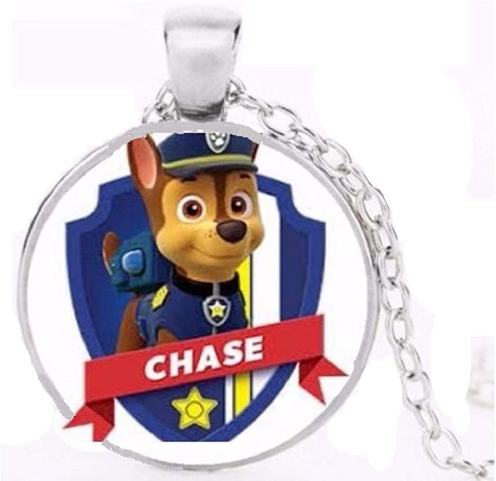 PAW PATROL PHOTO PENDANT SILVER PLATED CHAIN,18 INCH GIFT BOX PARTY BIRTHDAY